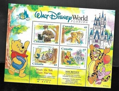 pk44516:Stamps-Canada #1621b Winnie the Pooh Souvenir Sheet-Mint Never Hinged