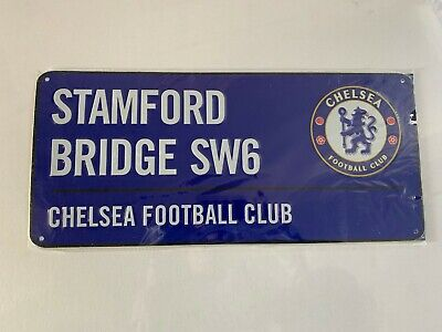 CHELSEA FC - BLUE STREET SIGN (Marked/Damaged) -  Official Club Merchandise