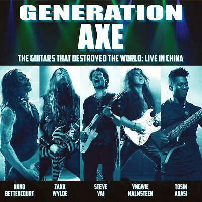 GENERATION AXE THE GUITARS THAT DESTROYED THE WORLD CD (Released June 28th 2019)