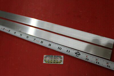 """2 pieces 1/4"""" X 1"""" ALUMINUM 6061 FLAT BAR 15"""" long T6511 Solid Mill Stock Plate"""