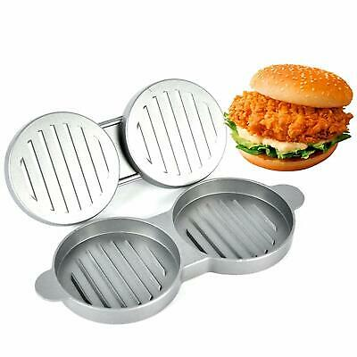 Hamburger Beef Maker Mould Press Barbecue Patty Grill Double Pounder
