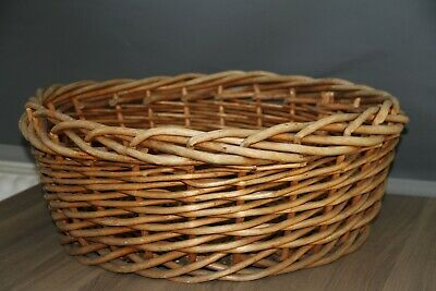Super Quality Vintage Large Round Thick  Wicker Basket