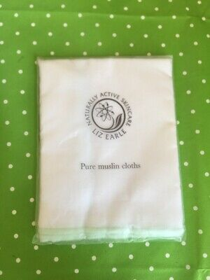 **Liz Earle** Cleansing Pure Cotton Muslin Cloths - NEW & Sealed