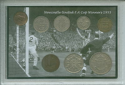 Newcastle United (The Magpies) Vintage F.A Cup Final Winners Coin Gift Set 1955