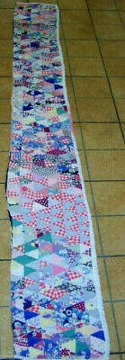 antique vintage small TRIANGLES LONG CUTTER QUILT PIECE