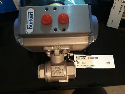 "Burkert Type 2051 - Part-turn Actuator 3/8"" Pneumatic rotary drive double acting"