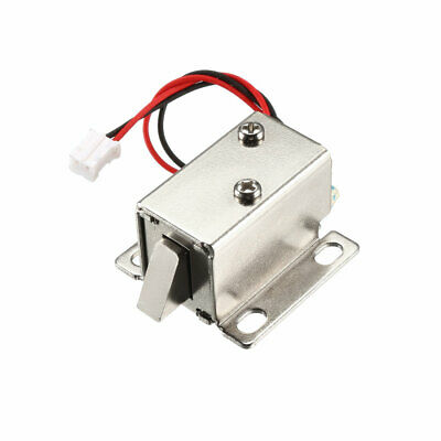 DC 6V 1A 6mm Mini Electromagnetic Solenoid Lock Assembly Tongue Up for Door Lock