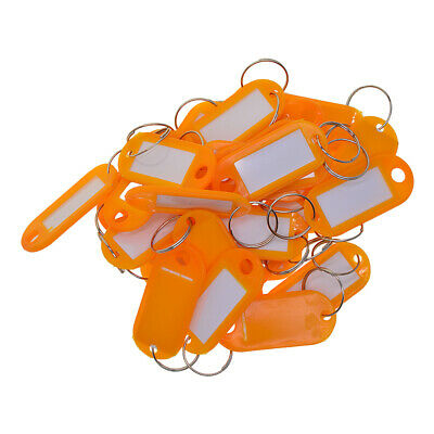50pcs Removable Waterproof Key Tags ID Name Card Tags Marking Labels orange