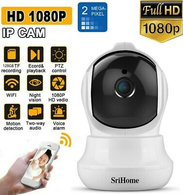SRIHOME Wi-Fi TELECAMERA IP CAMERA HD 1080P WIRELESS IR MOTORIZZATA RETE P2P CAM