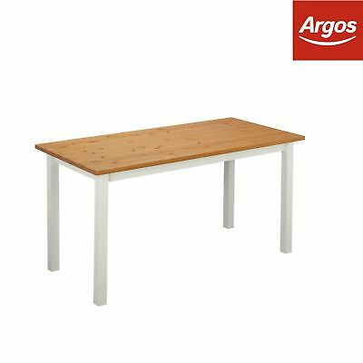 ba28f8a571 ARGOS HOME KENTUCKY 100cm Extendable Dining Table & 4/6 Chairs - Two ...