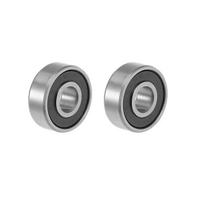 606-2RS Ball Bearing 6x17x6mm Double Sealed ABEC-3 Bearings 2pcs