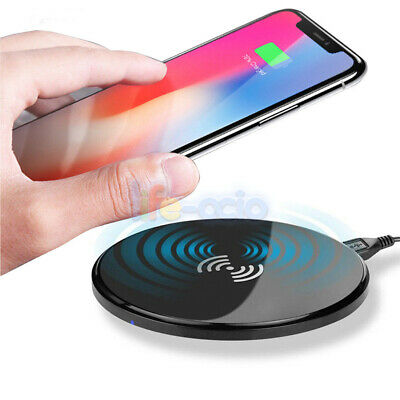 Universal QI Wireless Charger Dock Pad For Samsung iPhone + QI Charging Receiver