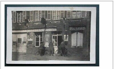 76  Carte Photo La Feuillie Garage Paul Gras Automobiles Cycles Motos