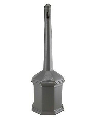 """Smokers' Outpost 42"""" Gray Site Saver Outdoor Ashtray Cigarette Receptacle"""