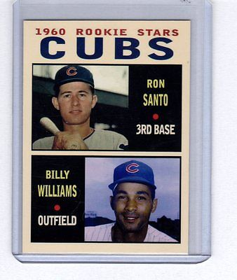 Ron Santo & Billy Williams '60 Chicago Cubs rookie stars Pastime series #7
