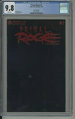 Primal Rage #1 Comic Sirius 1994 Red Foil Extremely Limited Variant Cgc 9.8!
