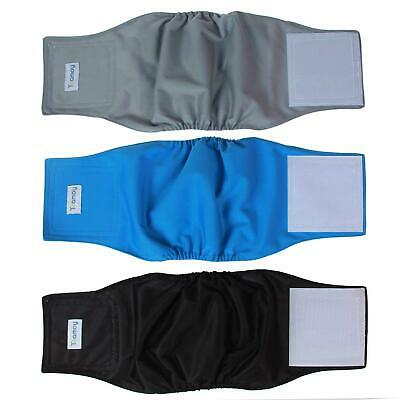3 Belly Wraps Male Dog Diaper Band Washable Reusable Diapers Waterproof Medium
