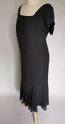 Jacques Vert Size 18 Mother Of The Bride 2 Piece Dress Skirt Blouse Grey