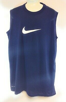 BOYS SLEEVELESS COMPRESSION SHIRT SOLID COLOR SPANDEX FABRIC NWOT