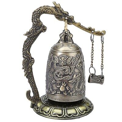 Zinc Alloy Vintage Style Bronze Lock Dragon Carved Buddhist Chinese