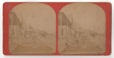 MARTHA'S VINEYARD Stereoview OAK BLUFFS Gingerbread Homes CAMP GROUND Photo