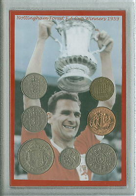 Nottingham Forest Vintage F.A Cup Final Winners Retro Coin Fan Gift Set 1959