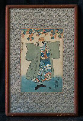 Antique 19th Century Japanese Ukiyo-e/Woodblock Print By Utagawa Kuniyoshi