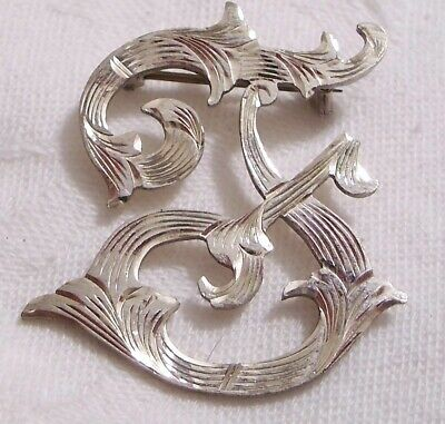 Vintage Sterling Silver Initial Pin Mexico