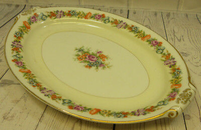 "Vintage Narumi China Stratford Occupied Japan 12"" Oval Serving Platter"