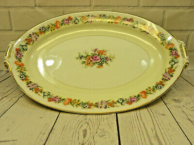 "Vintage Narumi China Stratford Occupied Japan 17"" Oval Serving Platter"
