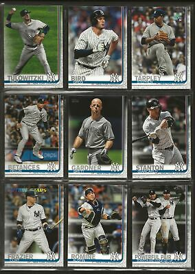 2019 Topps Series 2 Complete Base Team Set New York Yankees  (G