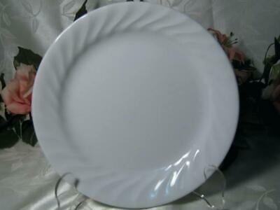 "1 New Corelle Impressions ENHANCEMENTS 9"" LUNCH PLATE Salad White Swirled Rim"