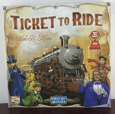 Days of Wonder Ticket To Ride by Alan R. Moon Train Adventure Game. Incomplete