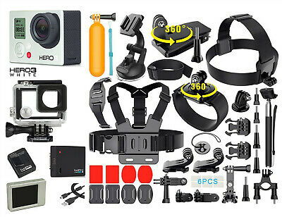 GoPro HERO 3 White Edition Action Camera + 40PCS Accessory + Waterproof + BACPAC