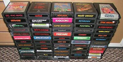 Lot of 60 Atari 2600 Games Wholesale Lot! Fast Shipping!