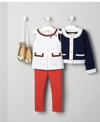 Janie & Jack Lot Set Top Pants 4th Of July Nautical Girls Sz 2