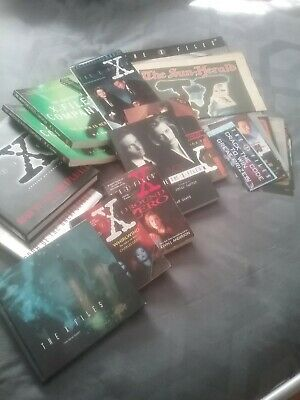 X Files Collectables- 14 Videos, 9 Books & 2 Figures still in packaging