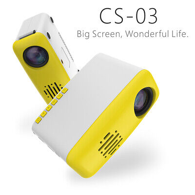 Portable 1080P HD Projector USB TV HDMI Mini Video Player Home Cinema Theater CN