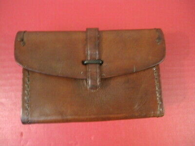 WWII US Army Leather Spare Parts Box for Browning M1918 BAR Rifle - Sears 1943