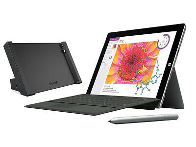 Microsoft Surface 3 10.8 128GB + 4G Tablet , Docking Station, Keyboard and Pen