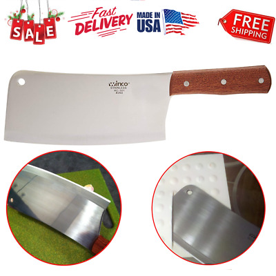Stainless Steel Chef Butcher Knife Meat Cleaver Heavy Duty 8 Inches Bone Chopper