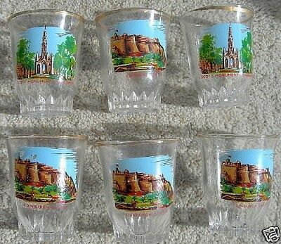 A Set Of Six New Small Painted Glasses