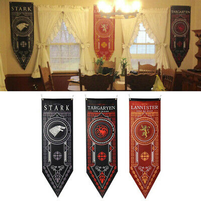 Game of Thrones House Stark Targaryen Lannister Banner Wall Hanging Flag 150cm
