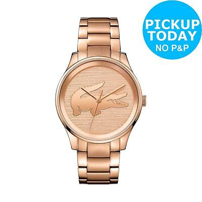 Lacoste 2001015 Ladies' Victoria Rose Gold Plated Bracelet Watch.