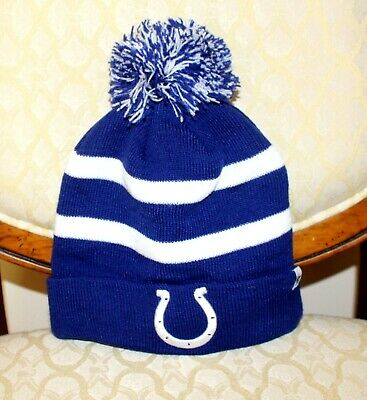 746dbe04 47 INDIANAPOLIS COLTS NFL Knit Winter Hat BLUE BLACK WHITE Beanie ...