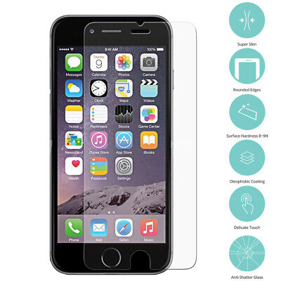 Tempered Glass Screen Protector Film For Apple iPhone 8 7 6S 6 PLUS X SE 5S 5 4S