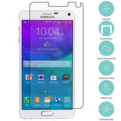Premium Real Tempered Glass Screen Protector Film for Samsung Galaxy Note 4