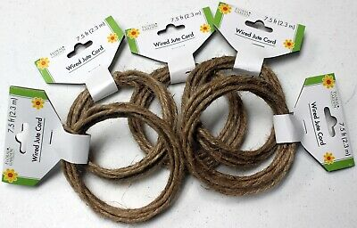 5 Sets Wired Jute Cord (7.5 Ft. (2m) each)  -- 5 Sets Total 37.5 Ft.