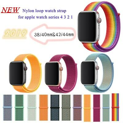 Sport Nylon Loop Woven Sport Watch Band Bracelet For Apple Watch series 4/3/2/1
