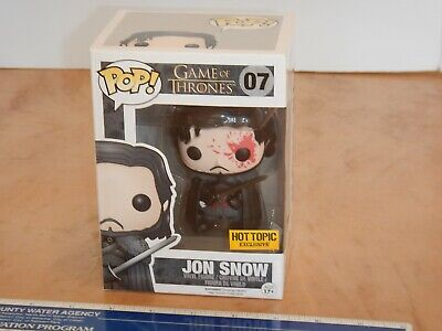 Funko Pop Game Of Thrones Bloody Jon Snow  #07 Hot Topic Exclusive, Nos